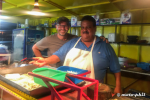 moto.phil and Felipe in his mexican food truck