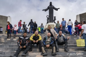 moto.phil having a break at Cristo Rey with other riders