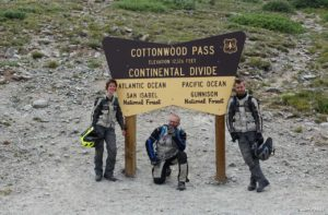 moto.phil with Janine and Pascal on Cottonwood Pass