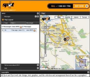Findmespot integrated map on website