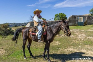 Mexican farmer on a horse