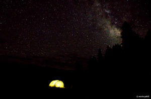 Milkyway camping in Colorado