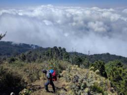Acatenango trail higher up