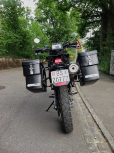 Mule Pack Panniers on DR650