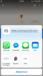 Get Coordinates from Google Maps on iOS