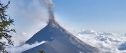 Acatenango erupting at daylight