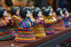 Traditional hand crafts on local Antigua market, all made in china.