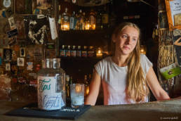Bartender of Café No Sé (Cafe I don't know) in Antigua Guatemala