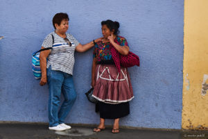 Guatemalan Ladies having a chat on the streets of Antigua