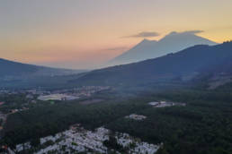 Volcan de Fuego and Acatenango shot from DJI Mavic Pro