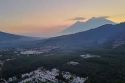 Volcan de Fuego and Acatenango shot from DJI Mavic Pro