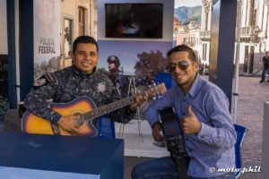 Mexico Police with Guitar