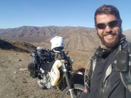 Aaron Mitchell and his DRZ400