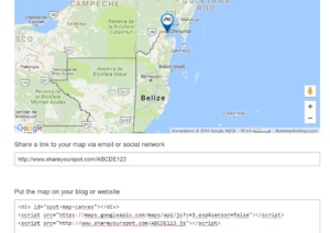 see your shareyourspot map and get your embed code