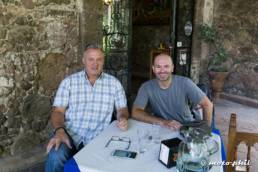 moto.phil and Mike in a San Miguel de Allende restaurant