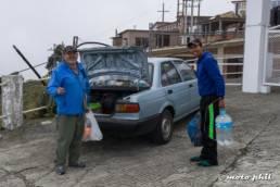 Two man at Albergue at Popocatepetl