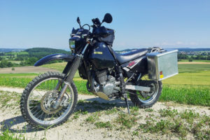 Aluminium Panniers on DR650