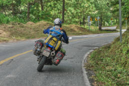 moto.phil on his DR650 with Mule Pack Panniers