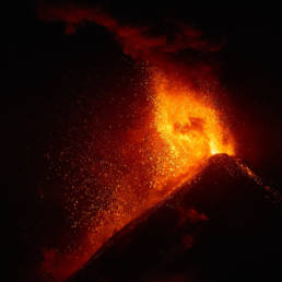 Volcano Fuego Guatemala erupting on February 24, 2017