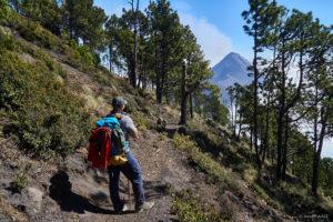 Acatenango top western trail