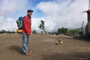 Moritz before the Acatenango hike