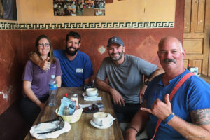 Meeting Todd and Chantelle who travel on small Honda CT110