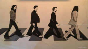 Beatles wall painting in The Londoner pub in Antigua