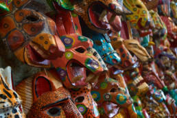 Colorful masks from Antigua Guatemala