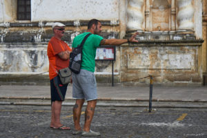 Two men in Antigua using the force