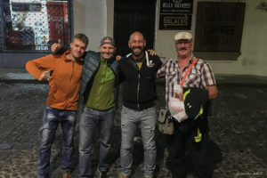 A fun night out in Antigua with other adventure riders